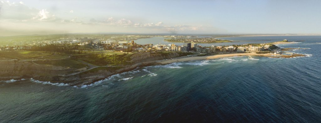 Hero image of Newcastle's coastline